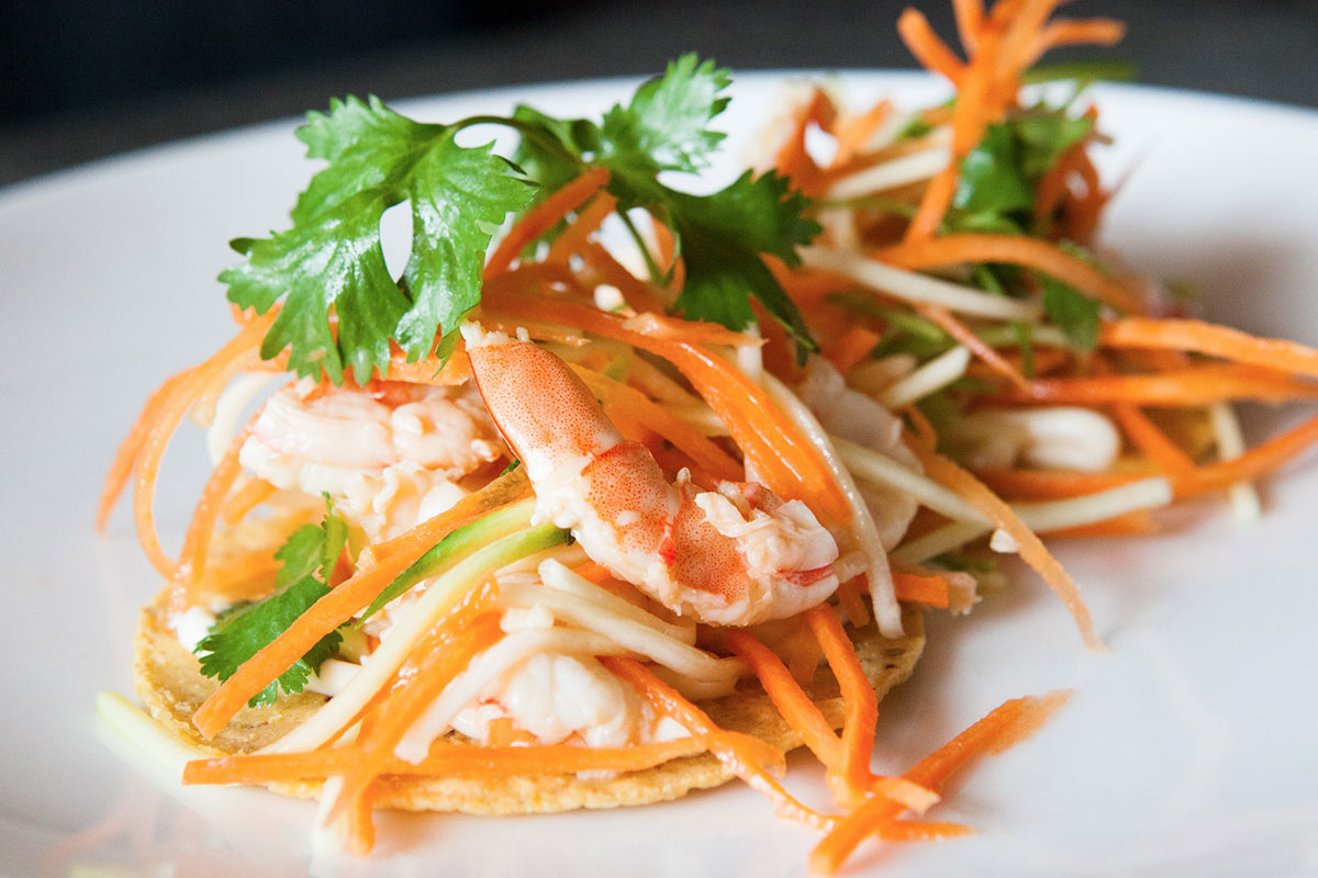 Citrus Shrimp Tostadas
